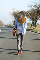 tevincentcom shirt - wool Zara scarf - Zara pants