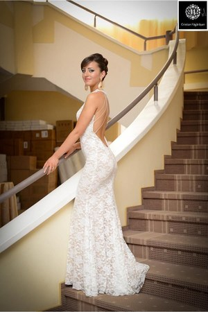 ivory dress - ivory elastan Accessorize dress