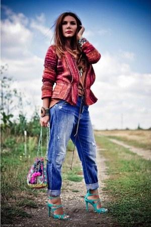 boyfriend Zara jeans - Mexx cardigan