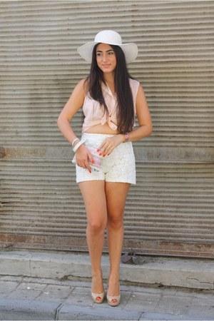nude Michael Kors heels - pink woven Simoni Textile Designs bag