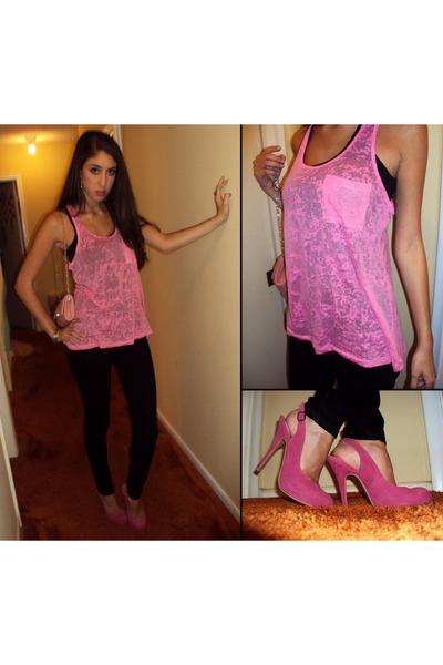 pink pumps Steve Madden heels - light pink clutch Aldo purse