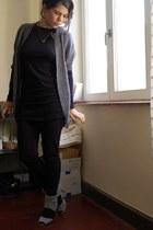 H&M vest - new look dress - H&M leggings - Sacha shoes
