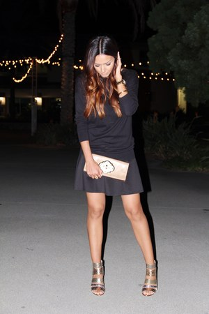 Michael Kors skirt - clutch gold cynthia rowley bag