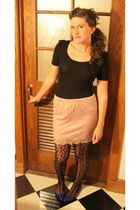 pink Target skirt - black Urban Outfitters blouse - blue Target shoes - black Ta