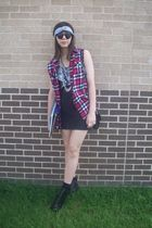 Forever 21 shirt - Forever 21 skirt - headband Forever 21 - UrbanOG shoes