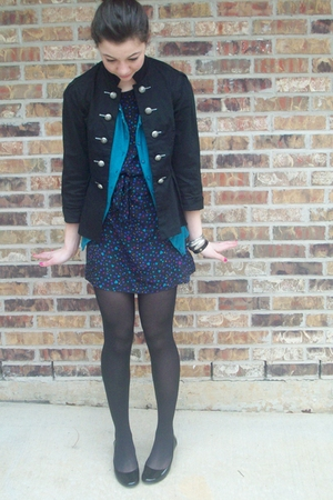 f21 dress - TJ Maxx shoes - charolette russe jacket