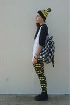 Ebay hat - Pac Sun bag - Ebay stockings