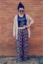 Forever 21 top - thrifted sunglasses - Forever 21 pants