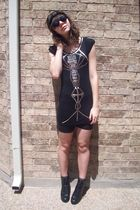 f21 dress - headband f21 - lace biker shorts kohls - UrbanOG shoes