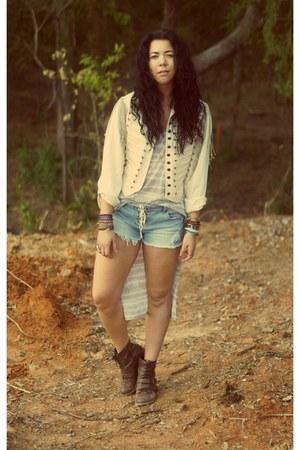 LoveCharlieJ Vintage jacket - Pink&Pepper boots - Buffalo Exchange shorts
