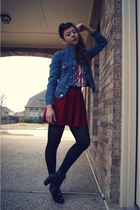 Levis jacket - Urban Outfitters shirt - Forever 21 skirt