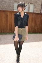 f21 vest - H&M skirt - UrbanOG shoes