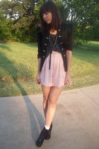 charolette russe jacket - f21 top - thrifted shorts - UrbanOG shoes