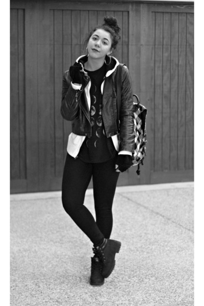 Timberland boots - Forever 21 jacket - Pac Sun bag - Forever21 earrings
