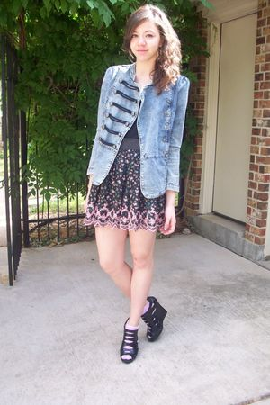 upscale jacket - urban orginal shoes - f21 skirt