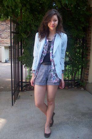 moms blazer - H&M shirt