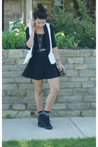 Forever21 dress - Forever 21 socks - Forever21 vest - Le Wolf Jewelry necklace