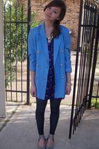 Sam Moon bracelet - thrifted jacket - f21 dress - f21 necklace
