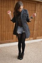 Overstockcom jacket - f21 shorts - UrbanOG boots