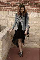 Make Me Chic skirt - upscale jacket - Forever 21 bag
