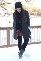UrbanOG boots - Urban Outfitters hat - Forever 21 top