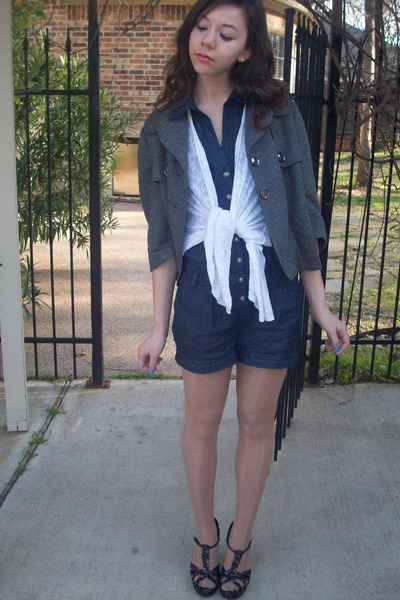 Ross jacket - Wetseal shoes - romper WetSeal - lace tights claires