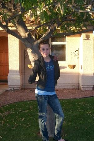 blazer - Charlotte Russe jeans - Aeropostal shirt