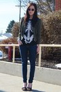 Olive-green-forever-21-jacket-black-ripple-junction-shirt