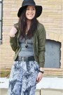 Black-nordstrom-hat-olive-green-military-forever-21-jacket