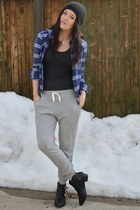 navy Forever21 shirt - heather gray H&M pants