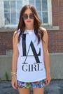White-forever-21-t-shirt