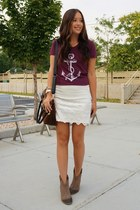 ivory free people skirt