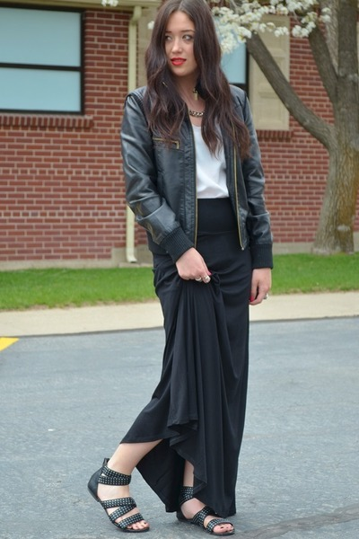 black leather BDG jacket