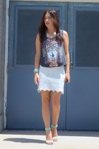 off white free people skirt