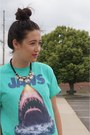 Turquoise-blue-urban-outfitters-shirt