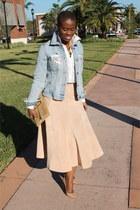 suede H&M skirt - broochvintage Chanel accessories