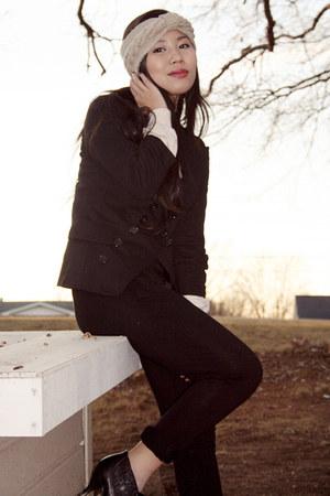 beige handmade accessories - black American Rag blazer - neutral Urban Outfitter