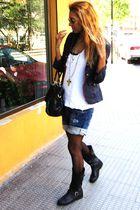 blue Zara blazer - black Primark boots