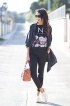 dark gray PERSUNMALL shirt - black Mango pants - ivory Yumas sneakers