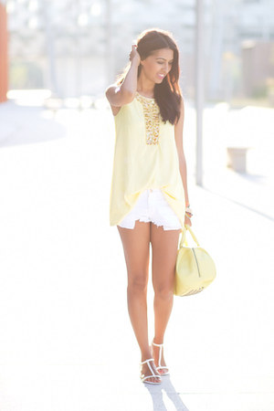 light yellow Sheinside blouse