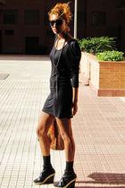 black Mango blouse - black BLANCO shoes