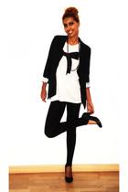 black BLANCO leggings - black BLANCO shoes - white Zara t-shirt - black Primark