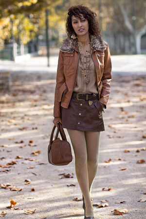 tawny BLANCO jacket - burnt orange BLANCO skirt