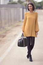 mustard Primark dress