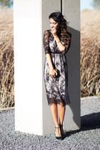 black asos dress - black Zara heels