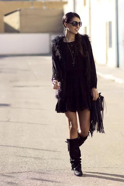 Zara boots - Zara dress