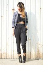 blue Zara jacket - black Sommes démode pants