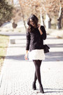 Dark-gray-pull-bear-sweatshirt-ivory-old-skirt