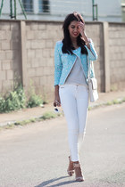 sky blue Zara jacket
