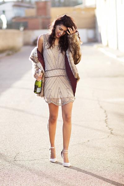 neutral pull&bear dress - neutral asos heels